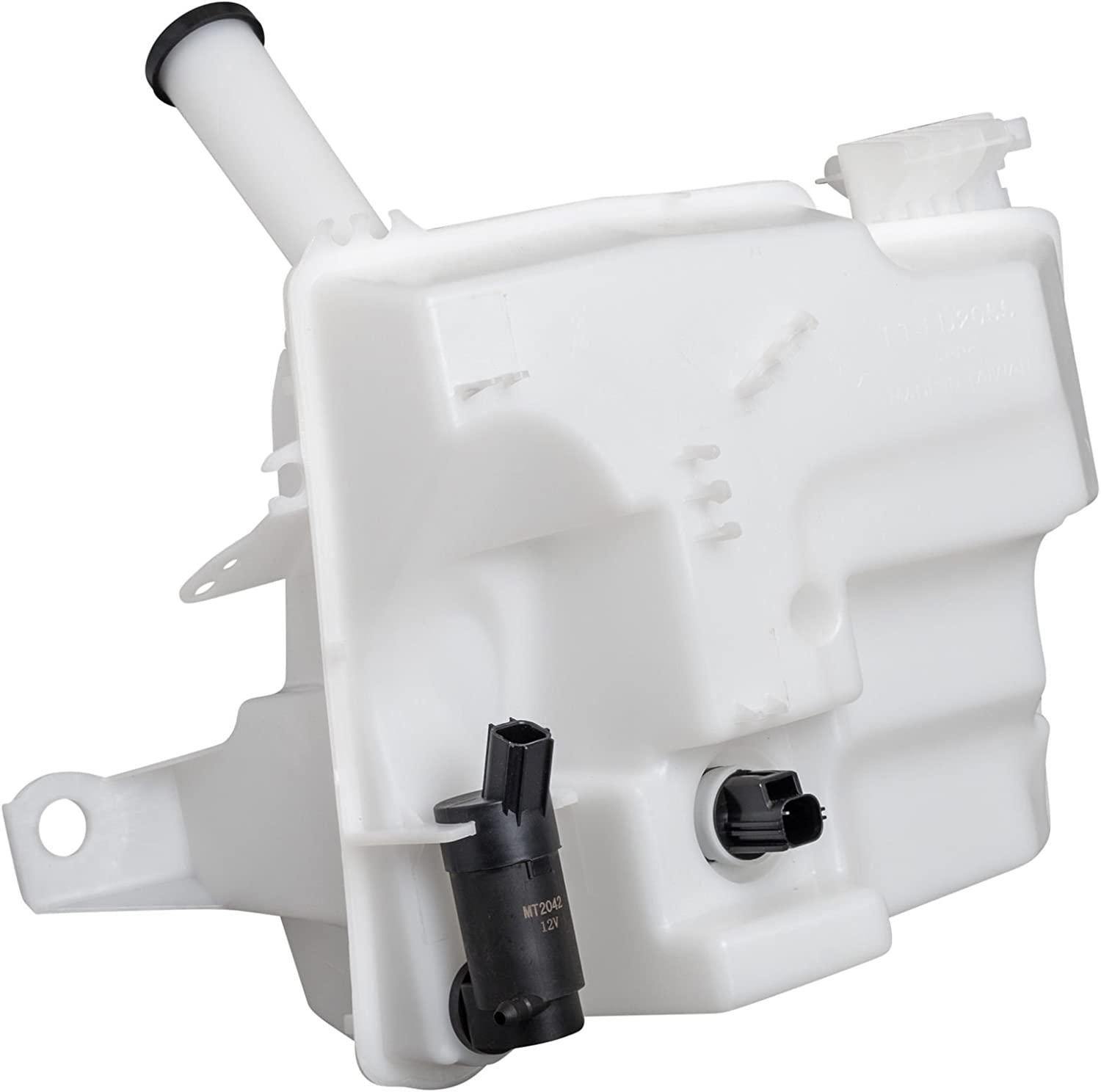 New Windshield Washer Tank With Pump For 2012-2018 Ford Focus And Ford Focus Electric Fits Hatchback Models With Sensor And Filler Tube FO1288112