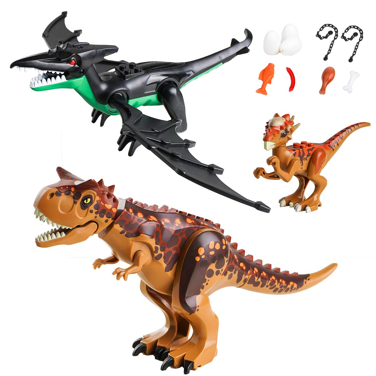 Maykid Dinosaur Sets,2 Large Dinosaurs,1 Small Dinosaur by Maykid