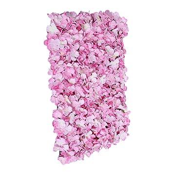 Sharplace Panneaux Mur De Fleur Artificielle Decor De Fete Scene