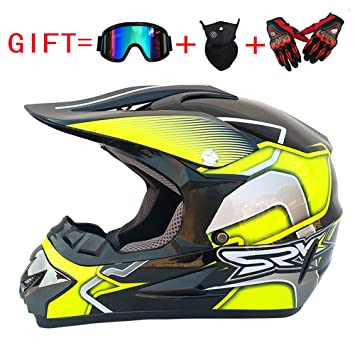 Wenyan Adultos MX Casco Motocross Casco Casco Scooter ATV Casco Fuera De Carretera Gafas De Distribución