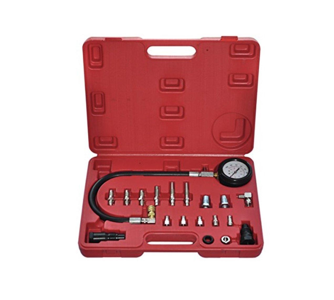 durable service Witss Testeur de compression pour moteurs kit test testeur jauge diesel outil de garage 19 pièce 0-70bars ou 1000 psi neuf 16