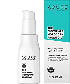 product image for Acure The Essentials Moroccan Argan Oil   100% Vegan   Versatile - For Any Skin & Hair Care Regimen   Pure, Cold Pressed & Rich in Vitamin E - Hydrates & Restores   1 Fl Oz