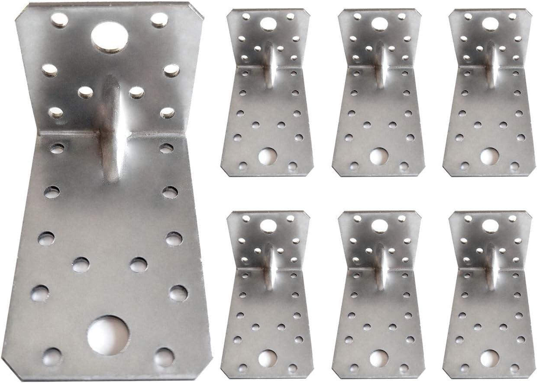 connettore ad angolo retto con perline zincate staffe angolari 90 x 50 x 55 mm Confezione da 10 pezzi resistenti spessore 2,0 mm