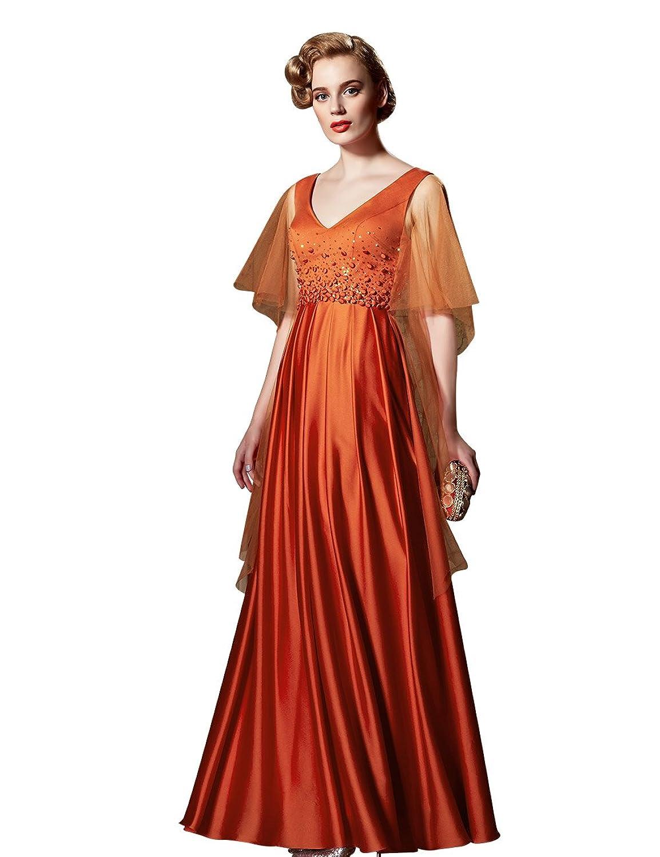 Amazon.com: Coniefox Women\'s V-neck Orange Vintage Party Rockabilly ...