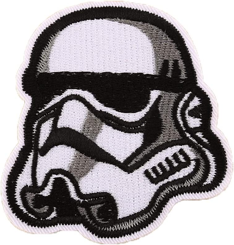 Star Wars Patch for Jacket 1 pcs Military Morale Sew On/Iron On Patches Clothes Dress DIY Accessory (Stormtrooper Helmet)