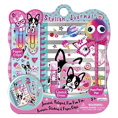 Fun Page Kit - Diary for Girls - Journal Set For Kids 5 Years and Over - Best Pals Notebook With Blank Pages, Stickers and Much More For Hours Of Fun by Hot Focus