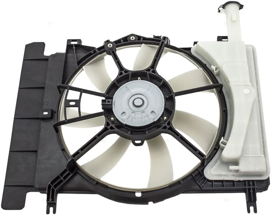 Radiator Cooling Fan Assembly Replacement for 07-14 Toyota Yaris Japan 16711-21110 16363-0D110 AutoAndArt