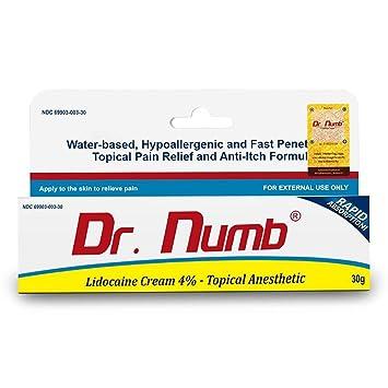 1 Tube of Dr  Numb Maximum Topical Anesthetic Cream, Lidocaine 4% ~ Net Wt  1 Oz (30g)