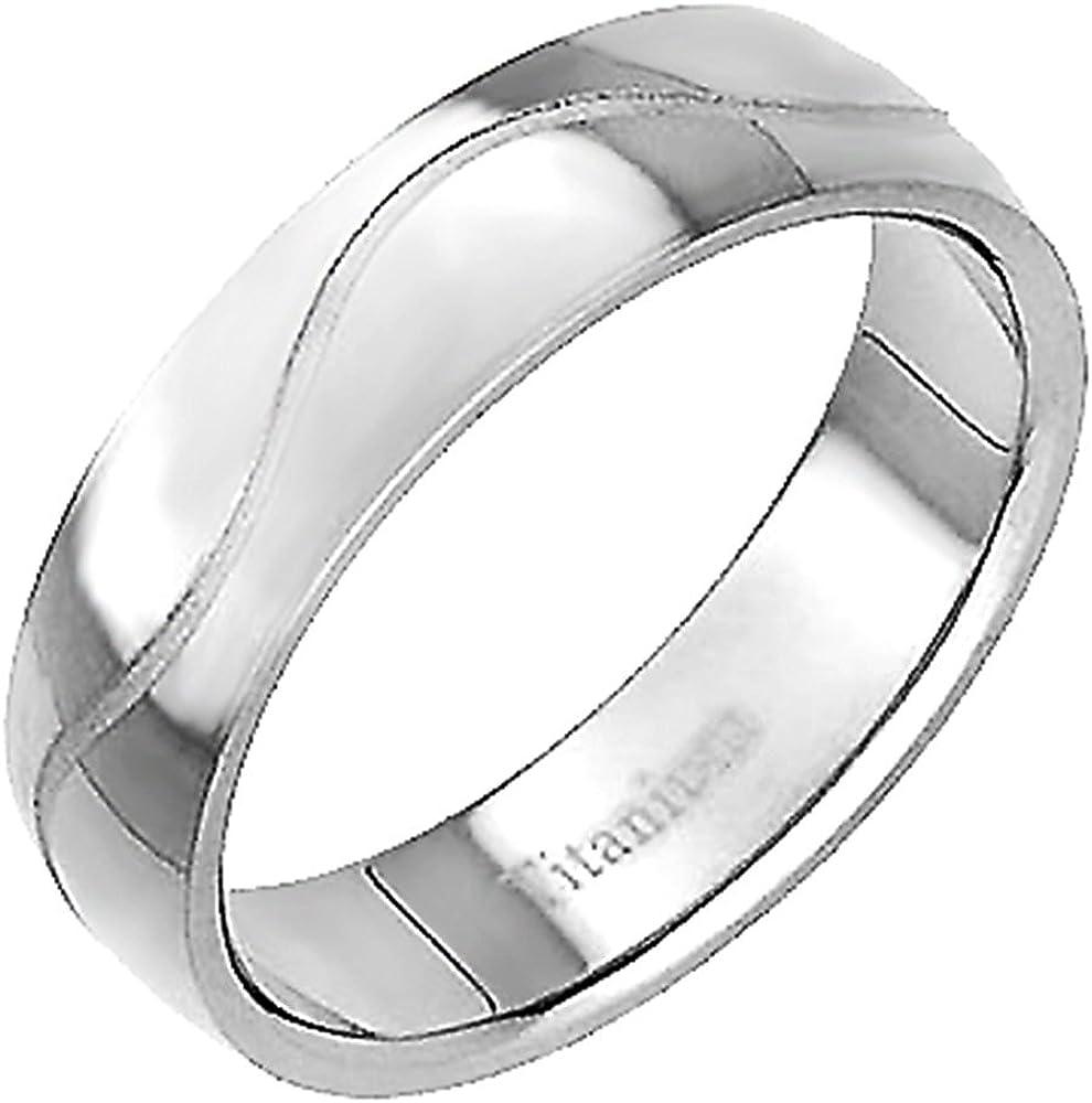 Mens Titanium  Wedding Band  Brushed Polished Center Ring Sizes 8-12 8mm