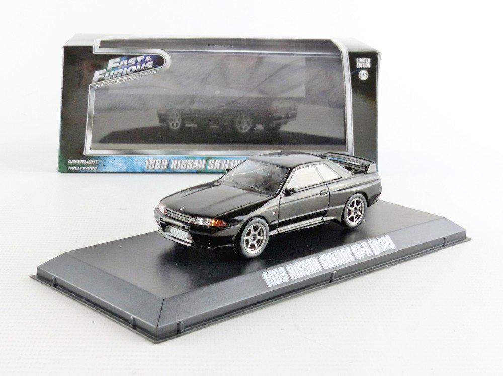 GreenLight 1989 Nissan Skyline GT-R (R32) Black Fast and Furious Fast 7 Movie (2014) 1/43 86229