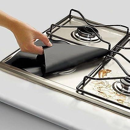 Encimera de gas hornillo, protectores de cocina hoja ...