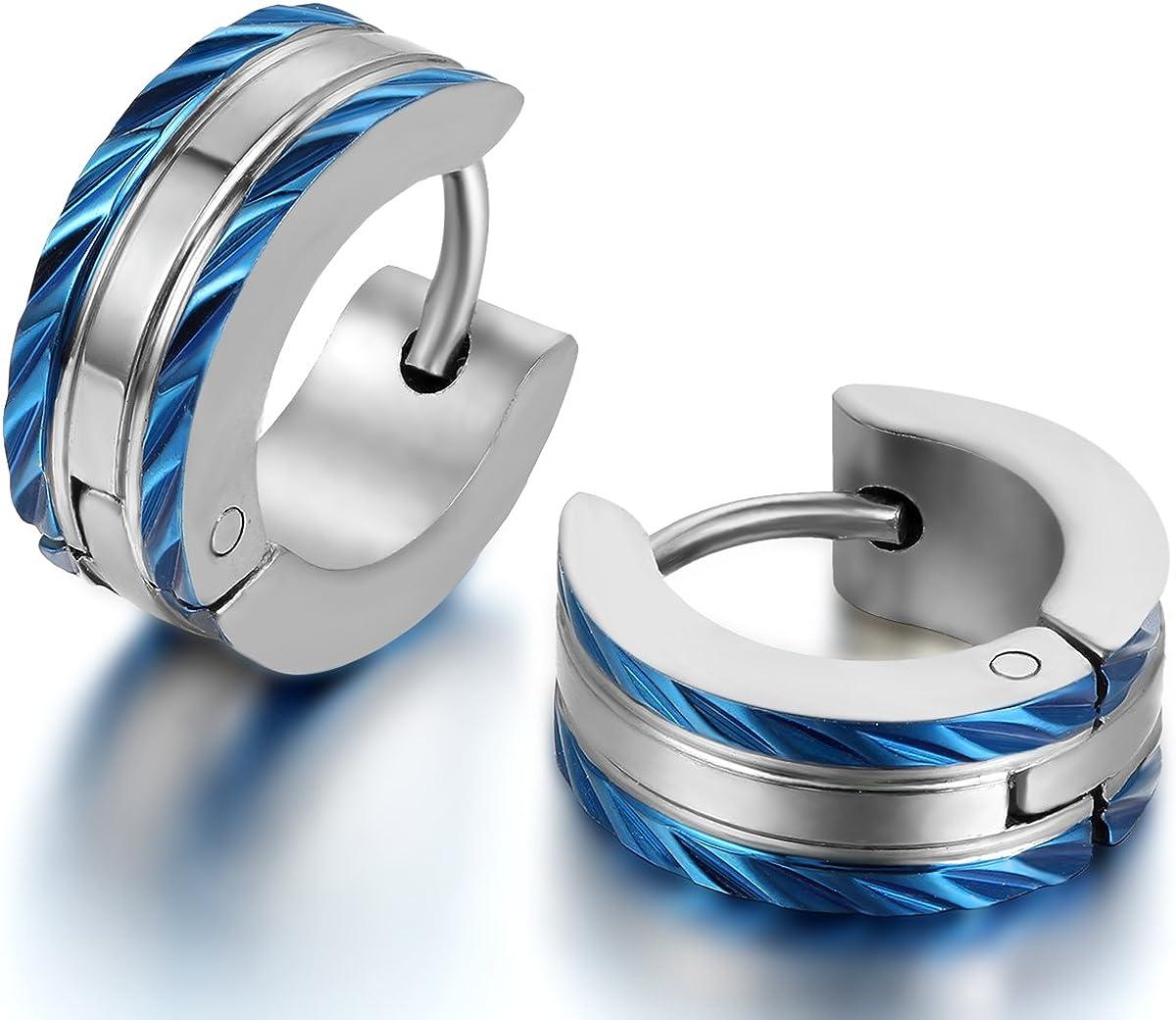 azul oro señora herrren Anillo cruz 4//6 mm de acero inoxidable 316l color