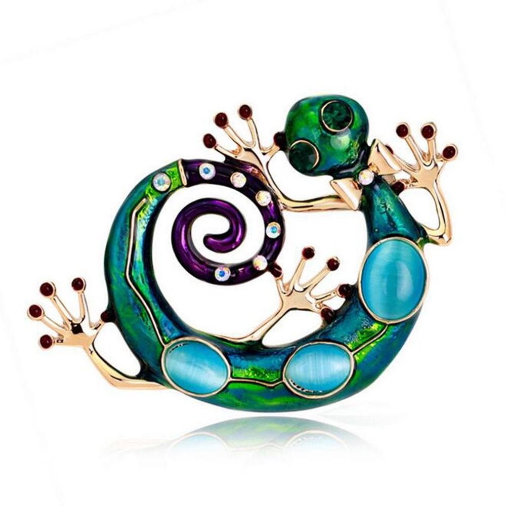 DB&PEISHI 3pcs Retro brooch of fashionable oil-dripping animals. Animal Brooch Accessories