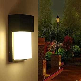 Lámpara De Pared Exterior Jardín Porche Luz Ip54 Moderna Villa ...