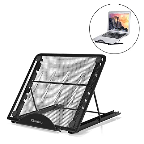 Remarkable Laptop Tablet Stand Foldable Portable Ventilated Desktop Laptop Holder Universal Lightweight Adjustable Ergonomic Tray Cooling Black2 Gmtry Best Dining Table And Chair Ideas Images Gmtryco