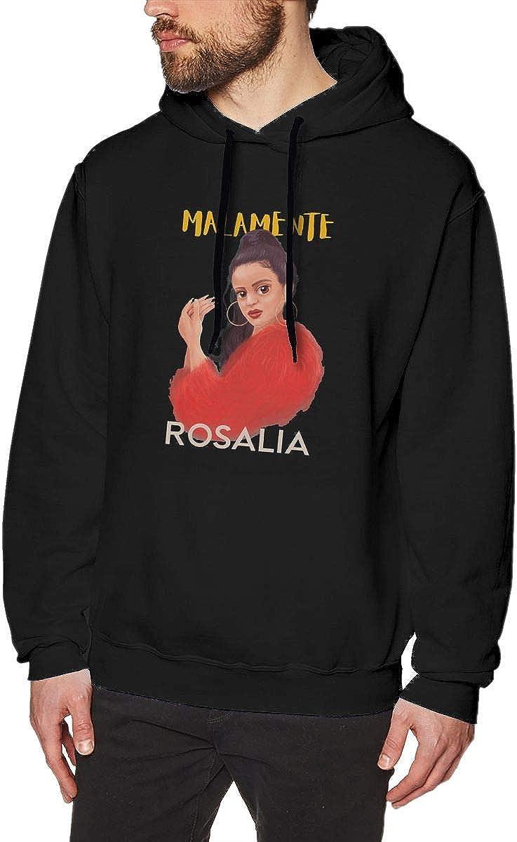Gerneric Luckyoung Ro-salia Comfort Mens Long Sleeve Fleece Pullover Sweater Black