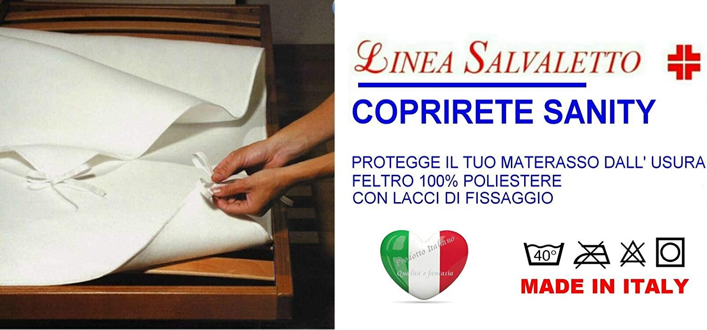 1 Piazza e Mezza SpazioTessile Coprirete Copridoghe Salvamaterasso Feltro Sanity Prodotto Italiano
