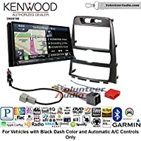 Volunteer Audio Kenwood DNX874S Double Din Radio Install Kit with GPS Navigation Apple CarPlay Android Auto Fits 2009-2012 Hyundai Genesis (Black) (Automatic A/C Controls)