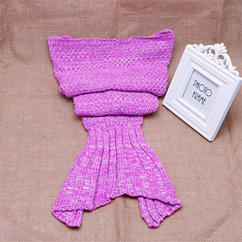 Diy Group Halloween Costumes For Adults (MEXUD- Handcrafted Crochet Knitting Mermaid Tail Blanket for Soft Handmade Bed Bag Cocoon (For Baby(900cm), Hot Pink))