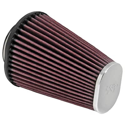 K&N Universal Clamp-On Air Filter: High Performance, Premium, Replacement Engine Filter: Flange Diameter: 2.4375 In, Filter Height: 6 In, Flange Length: 0.625 In, Shape: Oval Straight, RC-3680: Automotive [5Bkhe1507753]