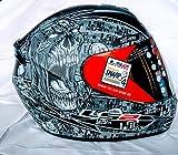 LS2 Anti-Hero Full Face Motorcycle Helmet (Black/Gray, X-Large)