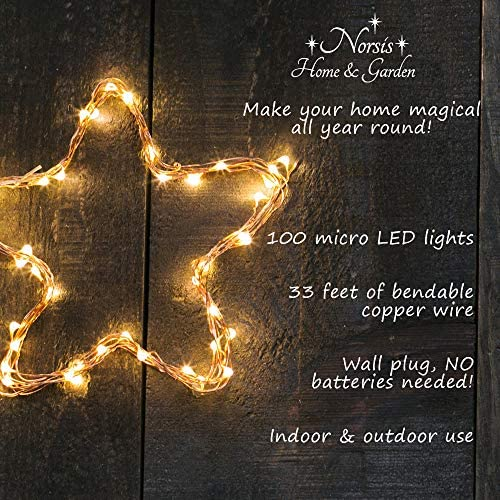 tools, home improvement,  lighting, ceiling fans 7 discount Norsis Fairy Lights - Flexible Copper Wire Starry String deals