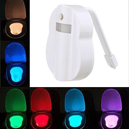 WC Activado por Movimiento y Sensor de luz, automático Toilet Bowl luz nocturna LED funciona