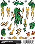 Woodland Scenics Pine Car Derby Dry Transfer Decal, Flaming Dragon, 4 by 5-Inch from Woodland Scenics
