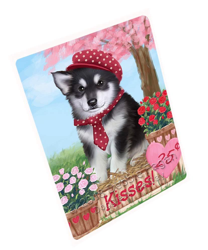 Doggie of the Day Rosie 25 Cent Kisses Alaskan Malamute Dog Blanket BLNKT127137 (50x60 Sherpa)