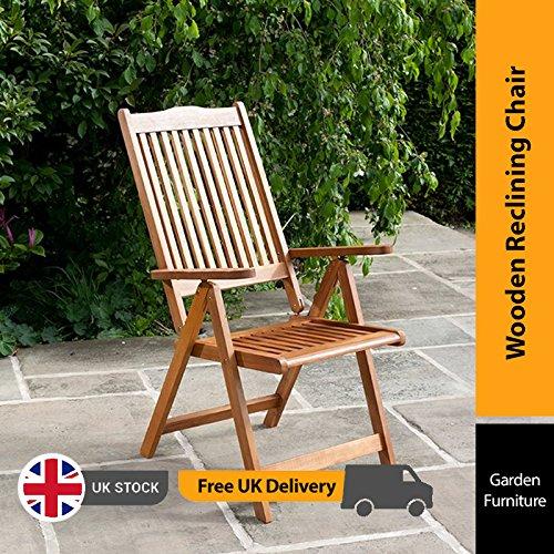 BillyOh Windsor Reclining Wooden Garden Chair - Folding Armchair
