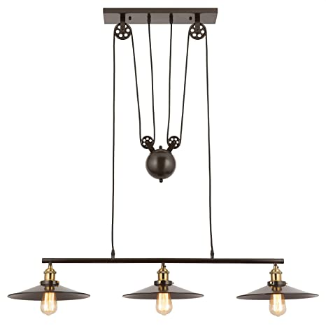 Amazon.com: CO-Z - Lámpara lineal de techo de 3 luces ...