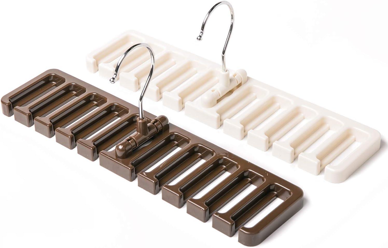 Tina - 2 Ganchos para Colgar Cinturones y Corbatas de Acero ...