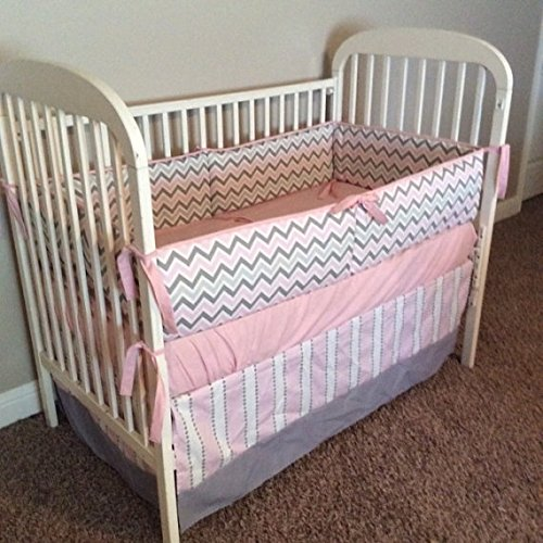 Grey and Pink 2 or 3 piece Crib (Dusk Crib)