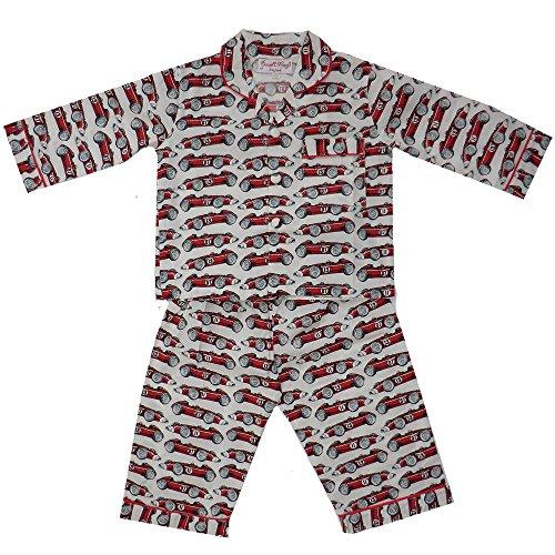 Powell Craft Big Boys Cotton Racing Car Pajamas.red (6-7 years)