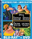 Genres Best Deals - Un Empereur nouveau genre & Un Kronk nouveau genre / The Emperor's New Groove & Kronk's New Groove 2-Movie Collection (Bilingual) [Blu-ray + DVD]