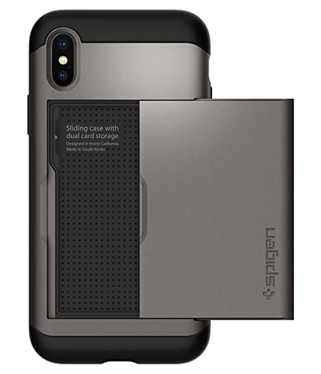 detailed look 9019c ba292 Spigen Slim Armor CS Designed for Apple iPhone Xs Case (2018) / Designed  for Apple iPhone X Case (2017) - Gunmetal