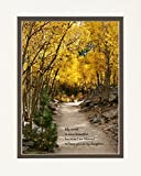 Daughter Gift with ''My World Is More Beautiful Because I Am Blessed to Have You As My Daughter.'' Aspen Path Photo, 8x10 Double Matted. Special Birthday or Christmas Gift for Daughter.