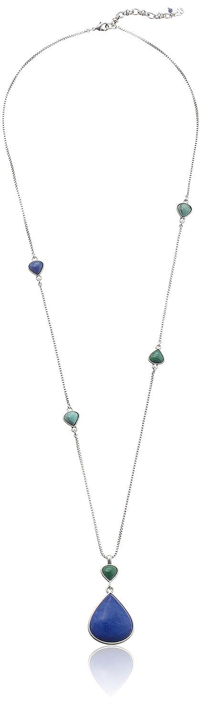 "Lucky Brand Long Blue Pendant Necklace, 30"""