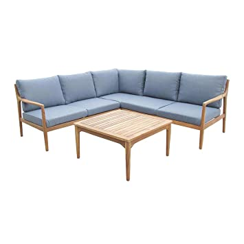 Amazon.de: OUTLIV. Loungemöbel Holz Manchester Loungeset 4-Teilig ...