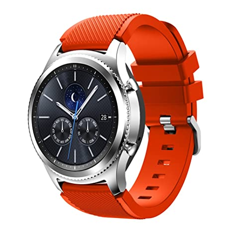 XingWangFa for Samsung Gear S3 Frontier/Classic Straps Correas 22mm Soft Silicone Sport Correa Replacement Strap For Samsung Gear S3 Frontier/Classic ...
