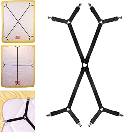 Tendeurs r/églables en croix pour drap-housse