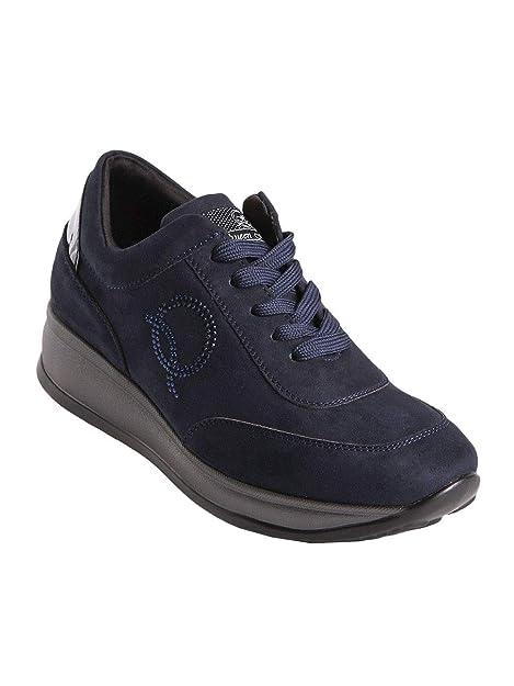 QUEEN HELENA - Zapatillas de Tela para Mujer Azul Size: 37 EU