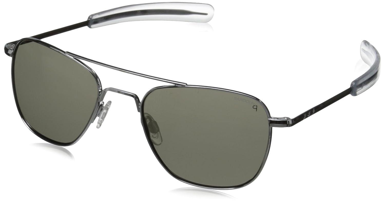 New Unisex Sunglasses Randolph Engineering Aviator AF5R611 B00E9ZIJ0K Bright Chrome/Grey|52. ミリメートル Bright Chrome/Grey