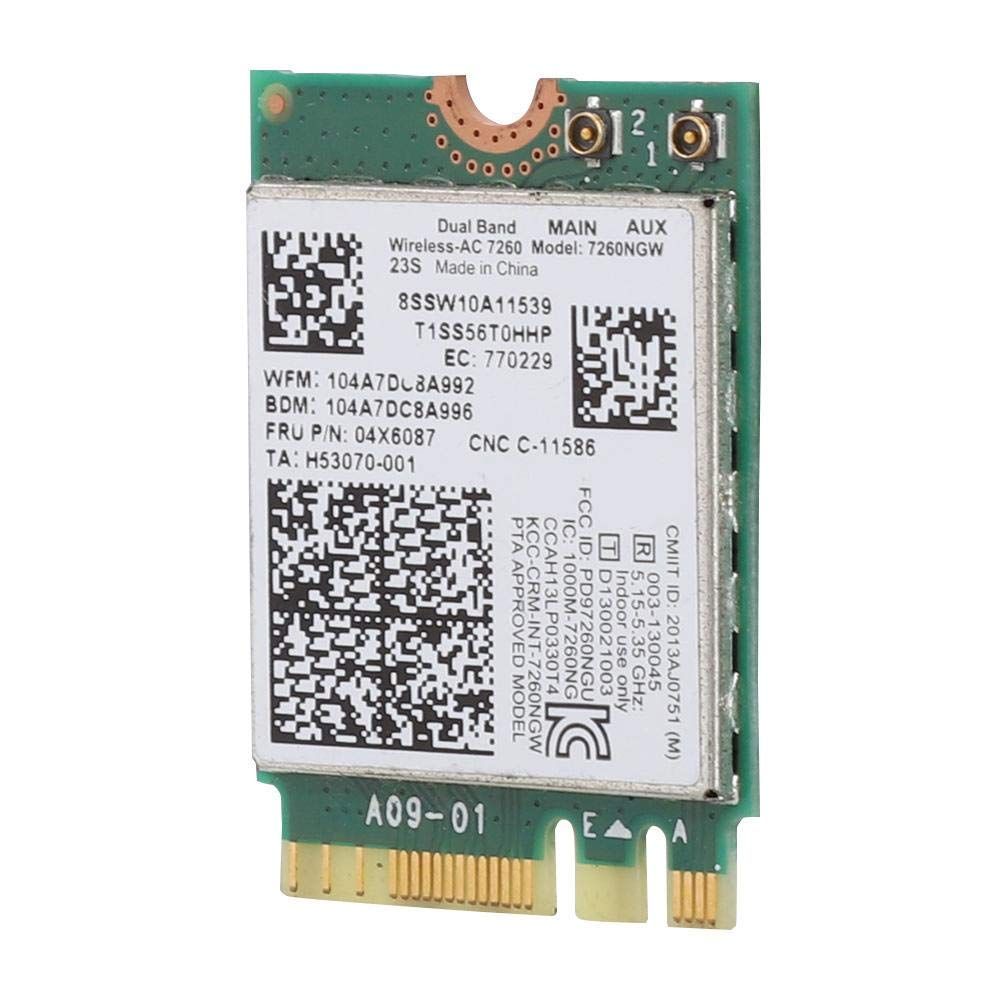 Intel Dual Band Wireless-AC 7260 7260NGW Wireless Network Card for Lenovo IBM Thinkpad FRU04X6087