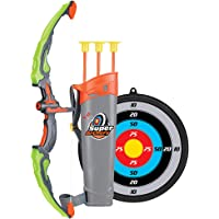 Abarich Arco Set niños Tiro con Arco Juegos con 3 Flechas de Tiro,Juego de Arco y Flecha para niños y niñas,Regalo para…