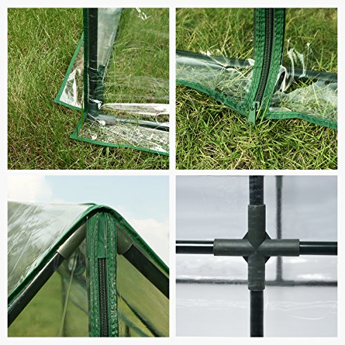 """Quictent Waterproof UV protected Reinforced Mini Cloche Greenhouse 71""""WX 36""""D X 36""""H Portable Green Hot House"""