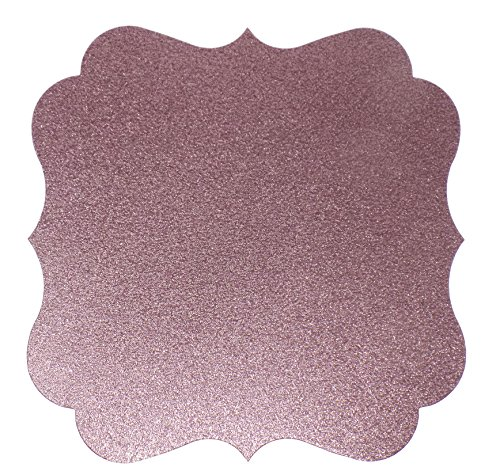PaperGala Glitter Chargers Paper Board Placemats for Plates Weddings 10 Pack (Light Pink)
