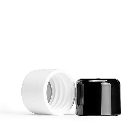 memobottle – botella de agua reutilizable delgado – fabricado en plástico reciclado sin BPA – 750 ml/375ml- Memo botella, Black & White plastic lid ...