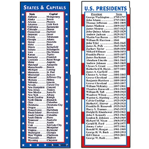 MCDONALD PUBLISHING STATES & CAPITALS AND PRESIDENTS SM (Set of 24) by McDonald Publishing
