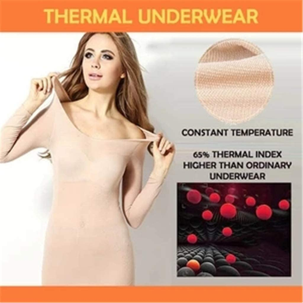 ObestChoose Womens Lightweight Soft Thermal Underwear Set,Elastic Solid Color Base Layer Top /& Bottom for Ladies